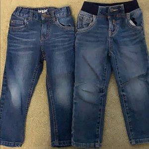 2 pairs 3T toddler boy jeans
